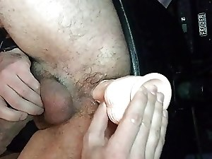 Fucking tight hairy ass new dildo, gape milking prostate