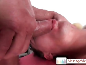 Seth getting his cock massaged with a fleshlight By