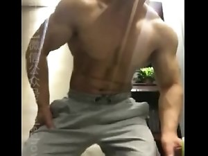 Chinese muscle bear bodybuilder