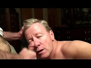Old Cocksucker Sucks Cock, Gets Facial (shorter version)