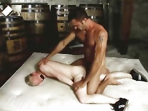 Horse cock daddy fucks blond twink boy