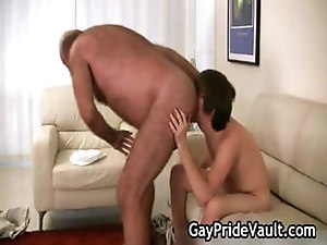 Horny gay bear fucking and sucking part1
